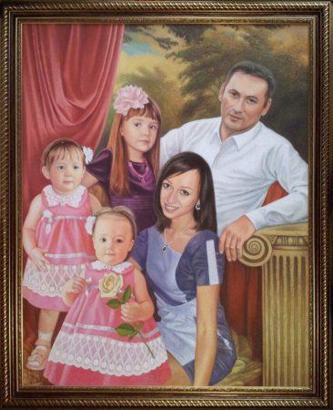Семейный портрет маслом в Нижнем Тагиле — правильная традиция…