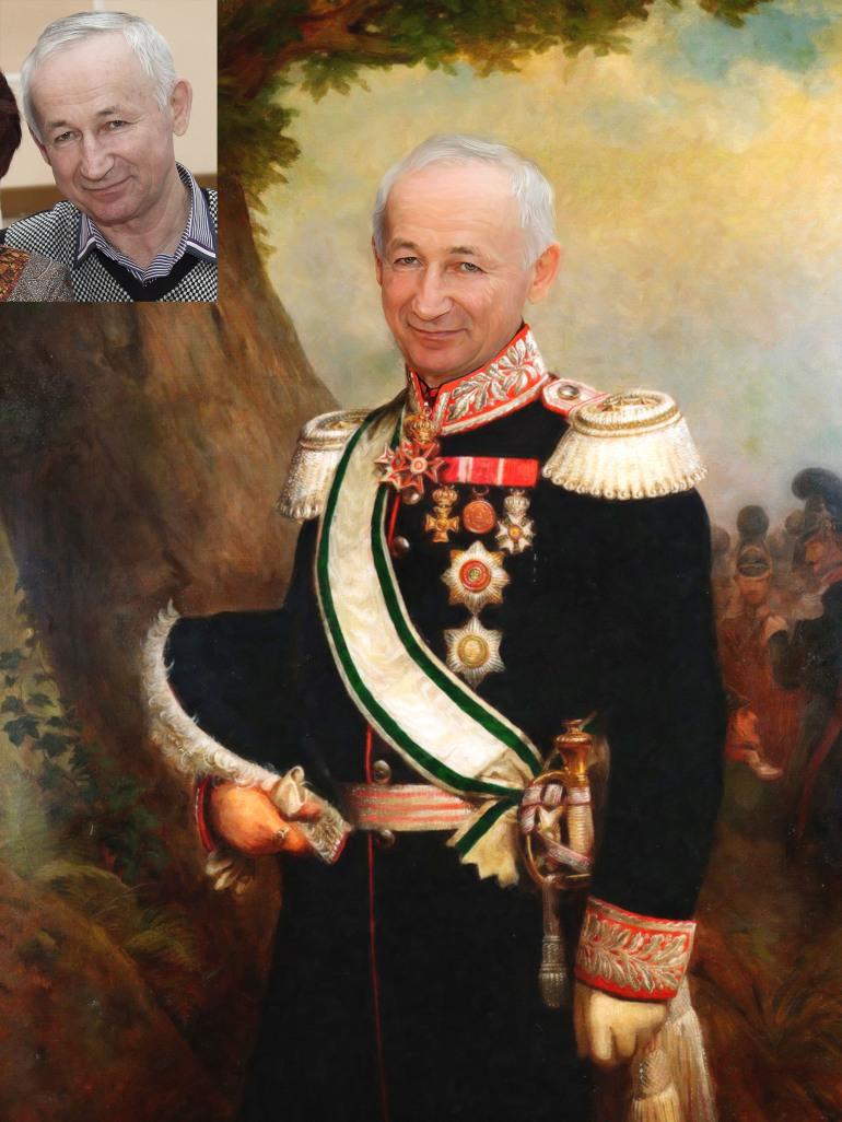 Заказать исторический портрет по фото на холсте