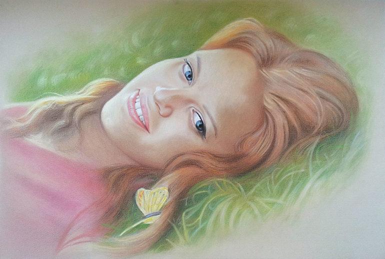 Настоящий портрет пастелью для любимой девушки в Нижнем Тагиле, просто и со вкусом!