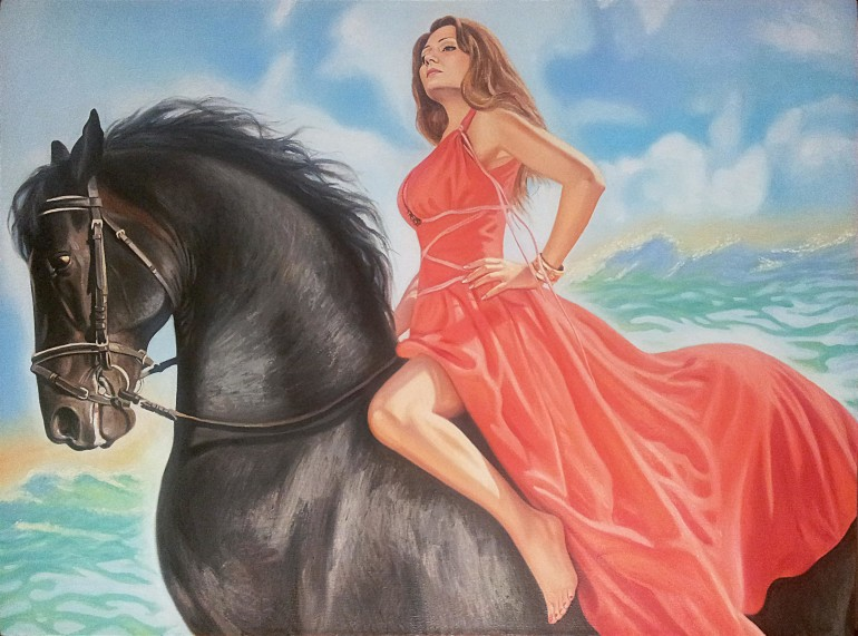 Настоящий портрет маслом на холсте в Нижнем Тагиле…
