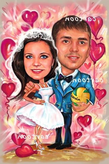 Свадебный шарж с оригинальным сюжетом в Нижнем Тагиле!