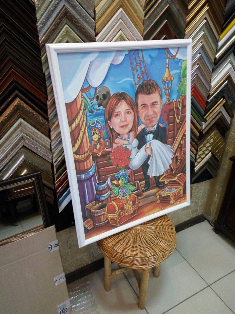 портрет шарж на заказ в Нижнем Тагиле
