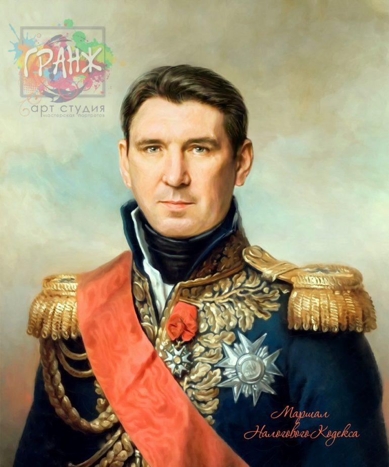 Портрет по фото на холсте в подарок мужчине на 23 февраля Нижний Тагил