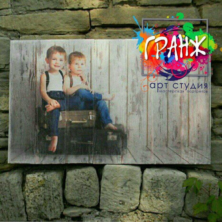 Картина на досках и портреты на дереве в стиле лофт купить на заказ