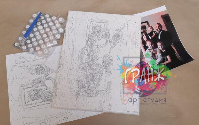 Картина по номерам по фото, портреты на холсте и дереве в Нижнем Тагиле